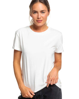 SNOW WHITE WOMENS CLOTHING ROXY TEES - ERJZT04693-WBK0