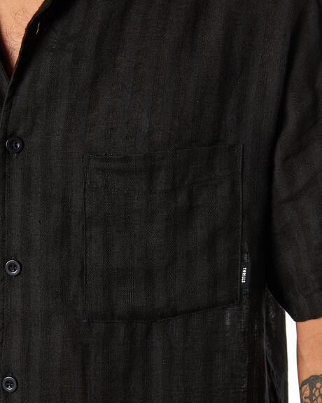 BLACK MENS CLOTHING THRILLS SHIRTS - TW20-201BBLK
