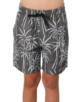 BLACK KIDS BOYS RUSTY BOARDSHORTS - BSB0364BLK