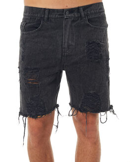 BLACK MENS CLOTHING THE PEOPLE VS SHORTS - HS17031BLK