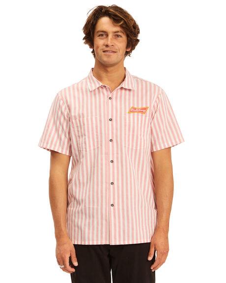 RED MENS CLOTHING BILLABONG SHIRTS - 9513215-RED