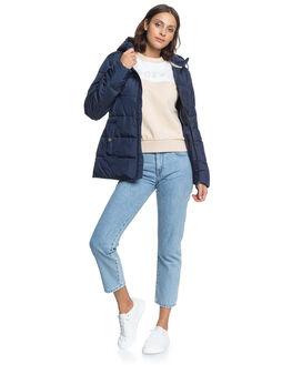 MOOD INDIGO WOMENS CLOTHING ROXY JACKETS - ERJJK03375-BSP0