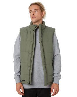 KHAKI MENS CLOTHING HUFFER JACKETS - MPVE92S801KHAKI
