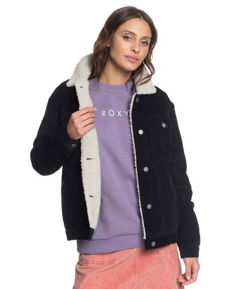 ANTHRACITE WOMENS CLOTHING ROXY JACKETS - ERJJK03376-KVJ0