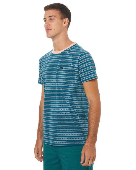 BLUE TIDE MENS CLOTHING RVCA TEES - R372044ABTIDE