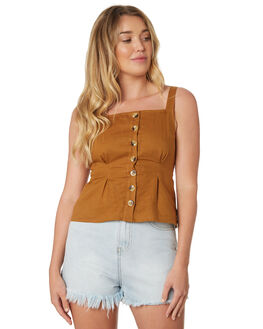 CINNAMON WOMENS CLOTHING THE HIDDEN WAY FASHION TOPS - H8189271CINMN