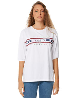 WHITE WOMENS CLOTHING RUSTY TEES - TTL0939WHT
