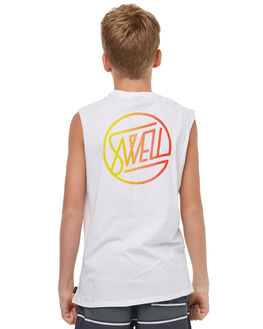 WHITE KIDS BOYS SWELL SINGLETS - S3183272WHITE