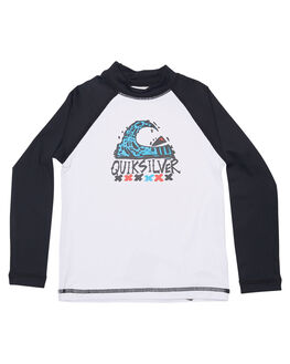 WHITE BLACK SURF RASHVESTS QUIKSILVER TODDLER BOYS - EQKWR03023XWWK