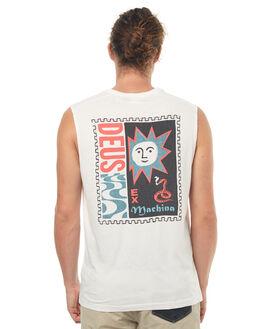 VINTAGE WHITE MENS CLOTHING DEUS EX MACHINA SINGLETS - DMS71970VWHT