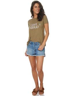 MID BLUE WOMENS CLOTHING TIGERLILY SHORTS - T372306MIDBL