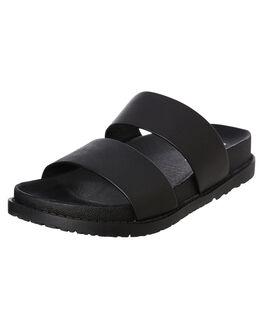 BLACK WOMENS FOOTWEAR ROC BOOTS AUSTRALIA SLIDES - TAROT_BLK