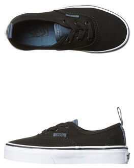 BLACK DARK SLATE KIDS BOYS VANS SNEAKERS - VN-A38H4MM5BLK