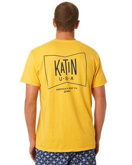 GOLD MENS CLOTHING KATIN TEES - TSGRU03GLD