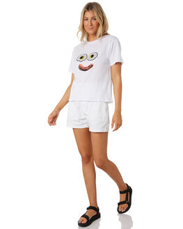 WHITE WOMENS CLOTHING COOLS CLUB TEES - 117-CW5WHI