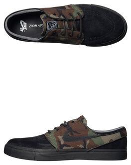 BLACK OLIVE MENS FOOTWEAR NIKE SKATE SHOES - 833603-002