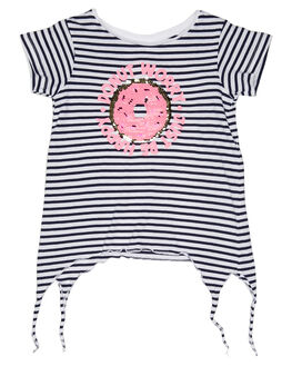 NAVY WHITE STRIPE KIDS TODDLER GIRLS EVES SISTER TEES - 8021025NVYWT