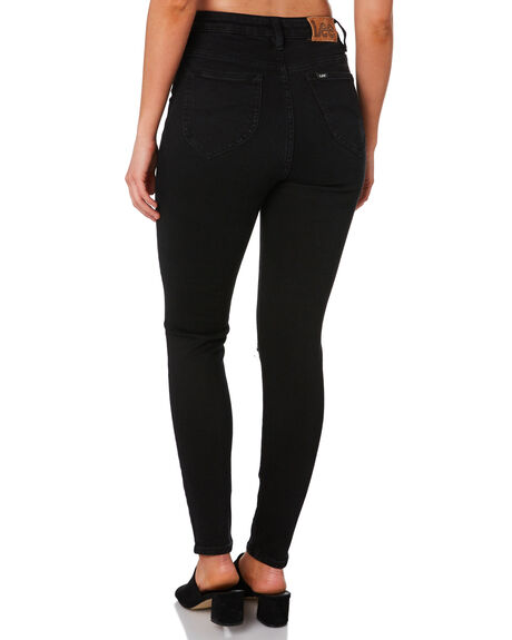 GRAZED BLACK WOMENS CLOTHING LEE JEANS - L656752MC3