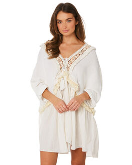 WHITE WOMENS CLOTHING TIGERLILY DRESSES - T391436WHT