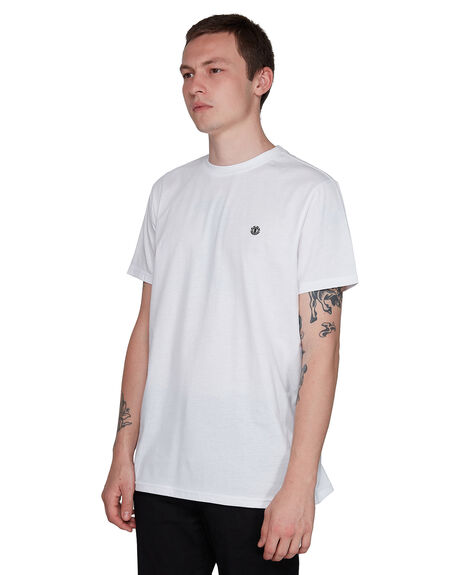 WHITE MENS CLOTHING ELEMENT TEES - EL-107004-WHT