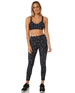 BLACK WHITE WOMENS CLOTHING THE UPSIDE ACTIVEWEAR - UPSW418040BKWHT