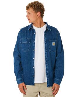 BLUE MENS CLOTHING CARHARTT SHIRTS - I02397701