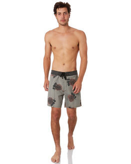 ARMY GREEN MENS CLOTHING THRILLS BOARDSHORTS - TS9-303FARMY