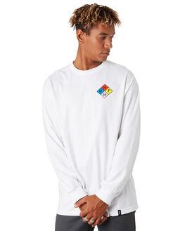WHITE MENS CLOTHING HUF TEES - TS00873-WHITE