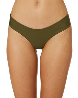 OLIVE CANVAS OUTLET WOMENS HURLEY BIKINI BOTTOMS - AQ3202-395