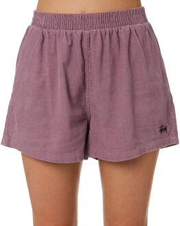 MAUVE WOMENS CLOTHING STUSSY SHORTS - ST193603MVE