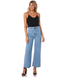 KIM BLUE WOMENS CLOTHING ROLLAS JEANS - 130984679