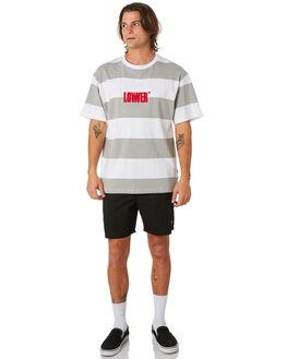 GREY WHITE MENS CLOTHING LOWER TEES - LO19Q4MTS01GRYWH