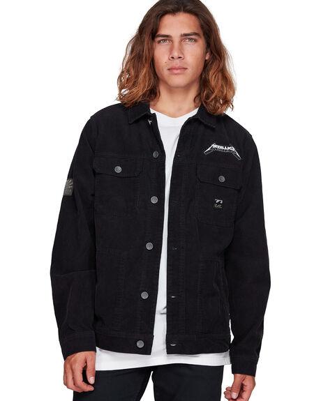 WASHED BLACK MENS CLOTHING BILLABONG JACKETS - BB-9592902-WAA