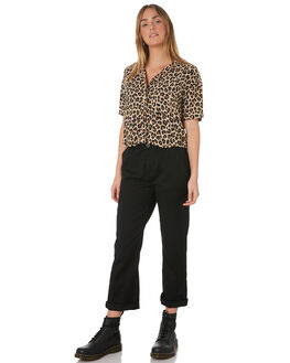 LEOPARD WOMENS CLOTHING BRIXTON FASHION TOPS - 01160-LEPRD