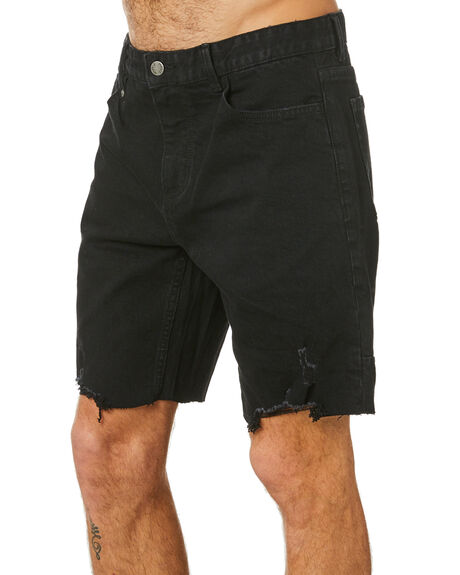 BLACK RINSE MENS CLOTHING THRILLS SHORTS - TDP-319BRBLKRN