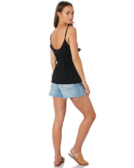 BLACK WOMENS CLOTHING RIP CURL FASHION TOPS - GSHFR10090