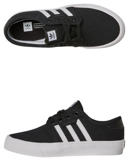 BLACK WHITE KIDS BOYS ADIDAS SNEAKERS - BY3838BLK