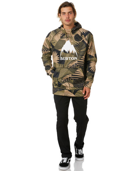 OLIVE WOODCUT PALM MENS CLOTHING BURTON JUMPERS - 10891109300