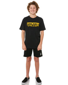 BLACK KIDS BOYS VOLCOM TEES - C5011800BLK