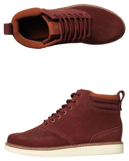 BURGUNDY MENS FOOTWEAR DC SHOES BOOTS - ADYB700011BUR