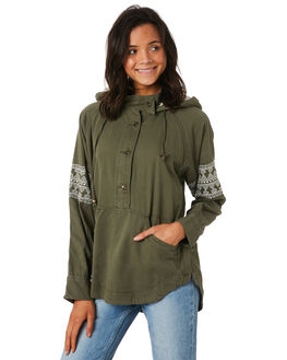 BURNT OLIVE WOMENS CLOTHING O'NEILL JACKETS - 53215146890