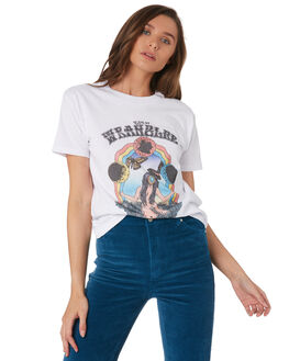 WHITE WOMENS CLOTHING WRANGLER TEES - W-951629-N60WHI