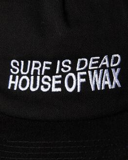 BLACK MENS ACCESSORIES SURF IS DEAD HEADWEAR - SD18HA6-03BLK