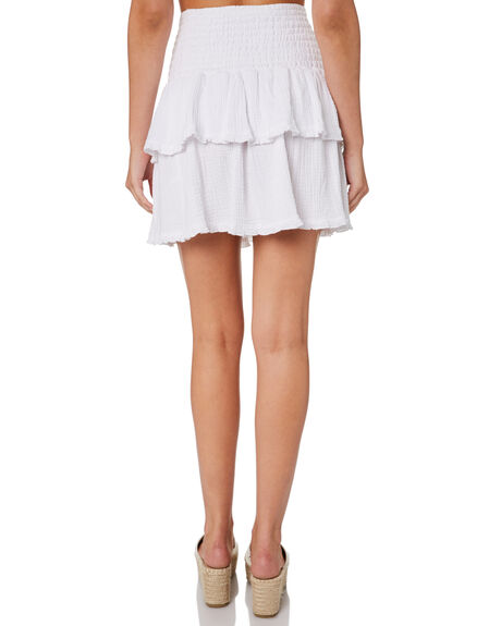 WHITE WOMENS CLOTHING SWELL SKIRTS - S8202474WHI