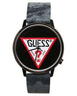 BLACK MENS ACCESSORIES GUESS ORIGINALS WATCHES - V1029M3BLK