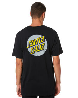 BLACK MENS CLOTHING SANTA CRUZ TEES - SC-MTA9148BLK