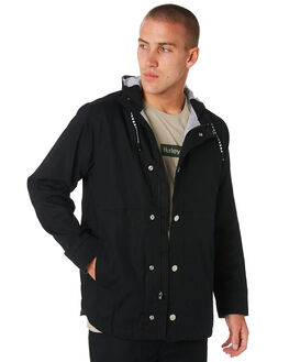 BLACK MENS CLOTHING HURLEY JACKETS - AJ2620010