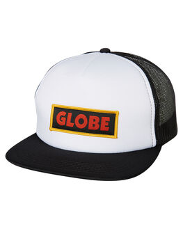 WHITE BLACK MENS ACCESSORIES GLOBE HEADWEAR - GB71819014WHTBLK