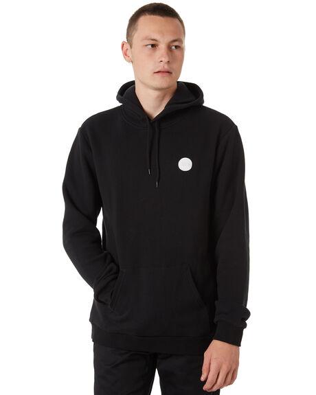 BLACK MENS CLOTHING BRIXTON JUMPERS - 02525BLACK