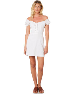 WHITE WOMENS CLOTHING LULU AND ROSE DRESSES - LU23675WHT
